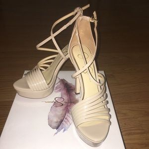 a3b0a4e524 Jessica Simpson Shoes - Jessica Simpson Nude Bravani Heels
